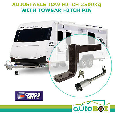 ADJUSTABLE TOW BALL MOUNT HITCH CARAVAN RIDE HEIGHT LEVELER 2500kg with LOCK PIN