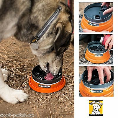 Ruffwear Bivy Bota Or Bivy Cinch Dog Travel Water Bowl Hiking Walking With Dogs