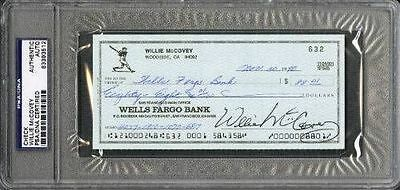 Willie McCovey San Francisco Giants Signed PSA/DNA Slabbed Check 83393512