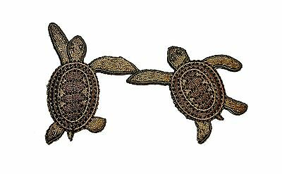 Turtle Sea Embroidered Iron On Applique Patch