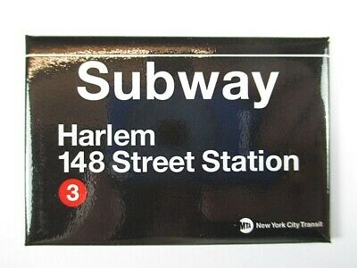 Harlem 148 th Street Subway Station U-Bahn New York  Magnet Souvenir ,8 cm