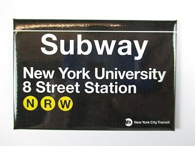 University 8 th Street Subway Station U-Bahn New York  Magnet Souvenir ,8 cm