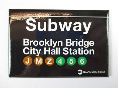 Brooklyn City Hall Subway Station U-Bahn New York  Magnet Souvenir ,8 cm