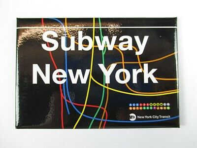 Subway All Stations U-Bahn New York  Magnet Souvenir USA Amerika ,8 cm