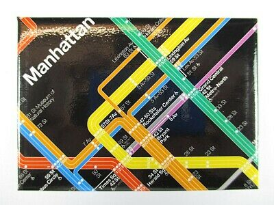 New York City Manhattan Subway U-Bahn Diagram Souvenir Magnet,9 cm
