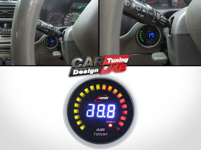 52mm CAR/AUTO Inside/Outside Thermometer Digital AIR TEMP Gauge SMOKE LED 12V