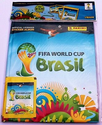 Panini World Cup 2014 Deluxe Starter incl. Hardcover album + 4 packs of stickers