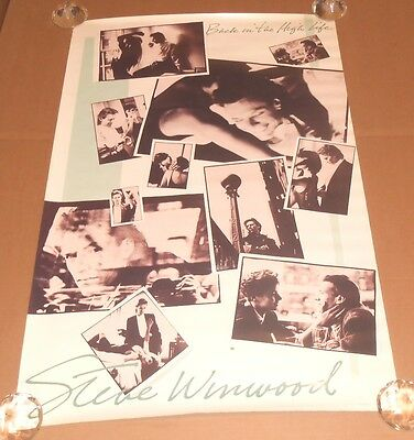 Steve Winwood Back in the High Life Promo 1986 Original Poster