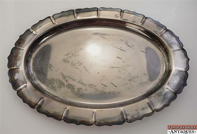 """Vintage Early American International Silver Plate 16"""" Serving Tray Platter Dish"""