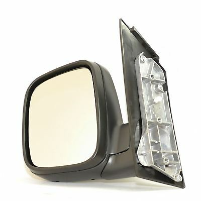 Vw Caddy 2004-2010 Black Manual Door Wing Mirror Passenger Side Left N/s