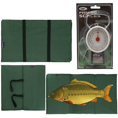 New Carp Fishing Unhooking Landing Mat + 50Lb / 22Kg Fishing Scales