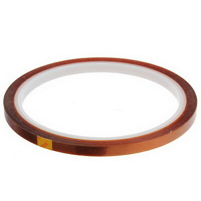 5mm 100ft BGA High Temperature Heat Resistant Polyimide Kapton Tape Gold G