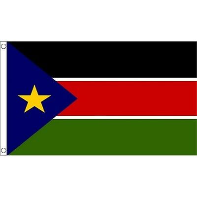 Sudan Sudanese South 3Ft X 2Ft National Country Flag Metal Eyelets