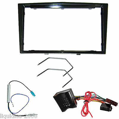Vauxhall Corsa D 2006 Onwards Black Double Din Fascia Facia Fitting Adapter Kit