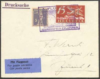 Switzerland Internal First Flight Cover 1926 w 2 Stamps L@@K