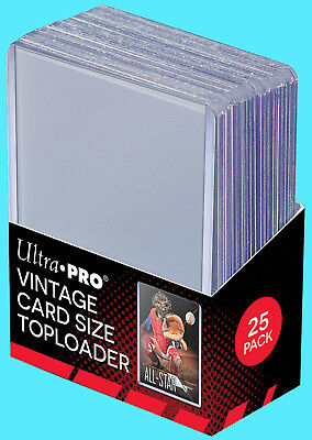 25 Ultra Pro Premium VINTAGE Toploaders NEW Bowman 1952-1956 Topps Baseball Card