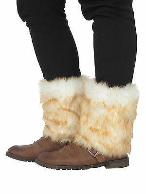 Soft Artificial Winter Ankle Lower Leg Warmer Faux Fur Shoe Covers Boot Sleeves