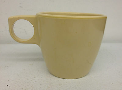 "Arrowhead Melamine Melmac 3"" tall Coffee Cup Mug Made in the USA"