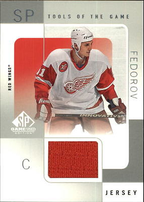 2000-01 SP Game Used Tools of the Game #SF Sergei Fedorov Jersey - NM-MT