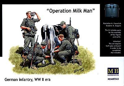 """Master Box MB 1/35 3565 """"Operation Milkman"""" WWII German Infantry at Rest"""