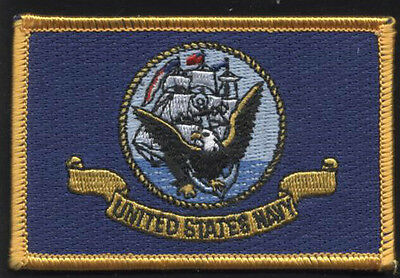 United States NAVY Flag Patch! Iron On! US Navy Seal/Crest! USN! NEW!!