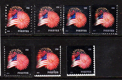 #4853, 54, 55  etc... 2014 Star Spangled Banner set/7  - MNH