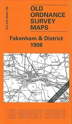 Old Ordnance Survey Map Fakenham & District 1908