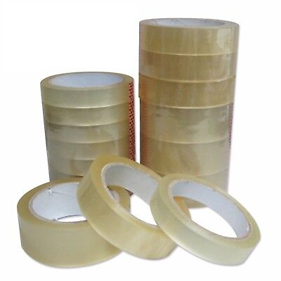 "25mm 1"" Sellotape Cellotape Clear Packing Parcel Strong Tape 66M MULTILISTING"