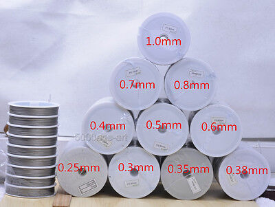 0.25 0.35 0.38 0.6 1.0 mm  Stainless steel beading wire Charm jewellery finding