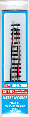 PECO ST-413  1 x 174mm Wired Double Straight Setrack Section Code 80 '009' Gauge