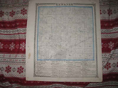 Antique 1875 Kewanee Township Henry County Illinois Handcolored Map W Print Nr