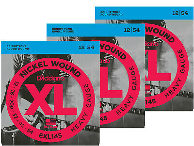 D'Addario EXL145 Electric Guitar Strings - Heavy 12 - 54, 3 Sets  - New