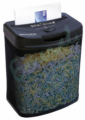 Swordfish 800XC Cross Cut Home Office Paper Credit Card Shredder - Great Value