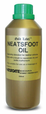 GOLD LABEL NEATSFOOT OIL (500ml - 5Litres) horse pony leather softener spread