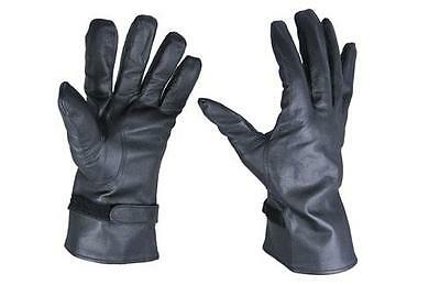 French Army Black Leather NBC GLOVES Nuclear Biological Chemical - All Sizes