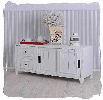 vintage lowboard weiss sideboard landhausstil eur 189 00 picclick de. Black Bedroom Furniture Sets. Home Design Ideas