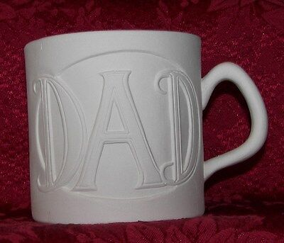 Nowells Ceramic Bisque Dads Cup Ready to Paint