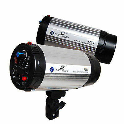 2 x 250W  Photography Monolight Studio Strobe Flash Light Lighting