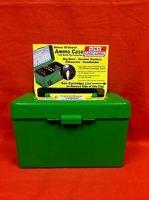 MTM CASE-GARD Deluxe 50 Round Ammo Case w/Bullet Tip Protection #H50-RL-10