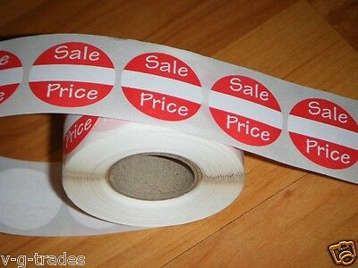 "1000 Self-Adhesive Sales Price Labels 1"" Stickers / Tags Retail Store Supplies"