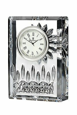 "WATERFORD LISMORE 4 "" CLOCK #107752 CRYSTAL BRAND NIB BEAUTIFUL SAVE$ FREE SHIP"