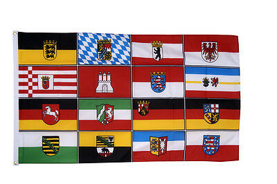 Germany State & Provinces Flags 5x3' - Berlin Bremin Hesse Hamburg Bavaria East