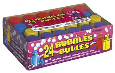 PARTY BUBBLES with Wands (Assorted Colour Tubs/Loot Bag Toys/Wedding)