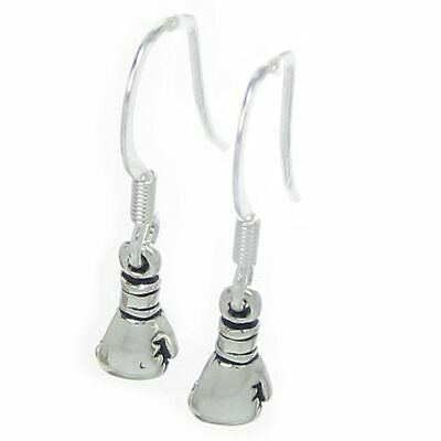 Boxing glove TINY earrings sterling silver .925 x 1 pair Boxers SSLP4100--HOOKS