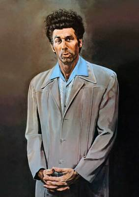 Seinfeld The Kramer Painting - QUALITY CANVAS Print Poster-  Size - 18x12""