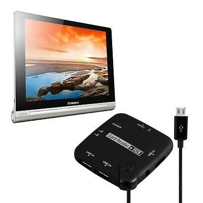 7 In 1 Micro Usb 2.0 Card Reader für Lenovo Yoga Tablet 10 Hd+ Adpater Mcro Sd