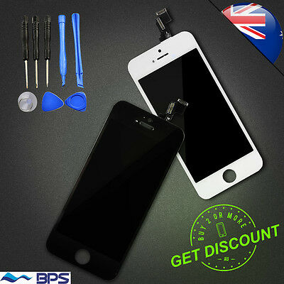 For iPhone 4S Black Replacement LCD Digitizer Touch Screen With Back Glass Cover