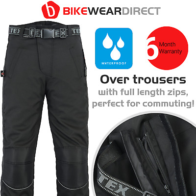 Motorbike Trousers Motorcycle Over Waterproof CE Armoured Rain Scooter Biker