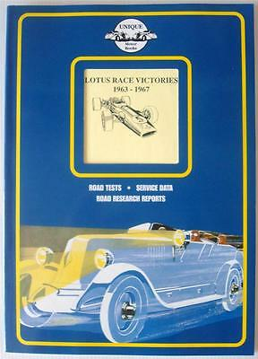 Lotus Race Victories 1963-1967 Colin Pitt Car Book