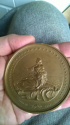 LARGE Tribute Medal 1866 USA  RESCUERS & PASSENGERS   Steamship SAN FRANCISCO